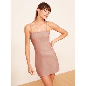 NWT Reformation Ava Mini Dress Pink 2